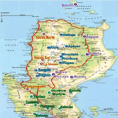 North Luzon Map